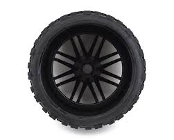 100 Tires For Trucks Sweep Terrain Crusher Belted PreMounted Monster Truck Black
