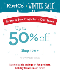 KiwiCo Sale: 40% Off First Month + Winter Shop Sale! - Hello ... Deal Free Onemonth Kiwico Subscription Handson Science 2019 Koala Kiwi Doodle And Tinker Crate Reviews Odds Pens Coupon Code 50 Off First Month Last Day Gentlemans Box Review October 2018 Girl Teaching About Color Light To Kids With A Year Of Boxes Giveaway May 2016 Holiday Fairy Wings My Honest Co Of Monthly Exploring Ultra Violet Wild West February