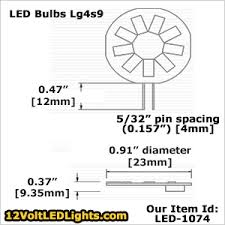 led 1074 warm white lg4s9ww 120 lumens cool white lg4s9cw 130