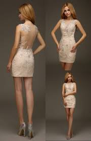 champagne short mini tight fitted 2016 homecoming lace