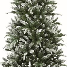 Flocked Christmas Trees Uk by 7ft Slim Lapland Flocked Christmas Tree