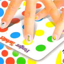 Family Finger Twister Board Game