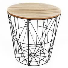table d appoint pour canapé table d appoint bout de canapé en métal noir filaire et plateau