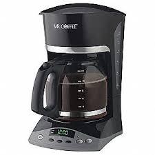 12 Cup Plastic Glass Coffee Maker Black