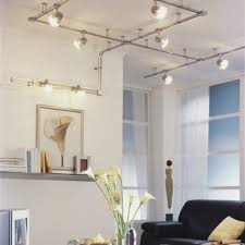 lighting ideas living room cable track lighting white