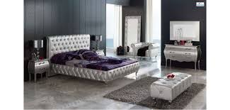 Appealing Silver Bedroom Furniture Sets and Mirror Bedroom Set