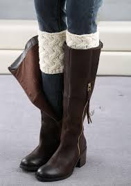 knitted winter boots cuffs thick knitting boot cover casual