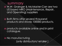 No Manufacturing Only Distribution Retailer 2 WW Grainger