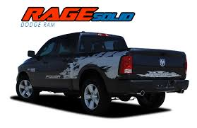 100 Truck Bed Decals RAGE SOLID Dodge Ram Stripes Ram Ram Vinyl Graphics