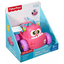 Fisher-Price Infant Press And Go Monster Truck - Pink (9+ Months)