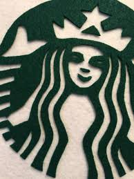 Sue At Home Starbucks Latte Costume Layered Felt