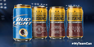 Three Redskins Super Bowls Featured New Bud Light Cans