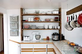 Our Open Farmhouse Kitchen Shelving Before and After