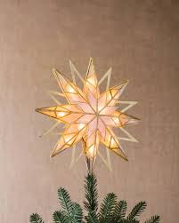 Unlit Christmas Tree Toppers by Double Sided Starburst Christmas Tree Topper Balsam Hill