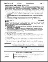Public Accounting Resume Corporate Accountant Sample B Manager