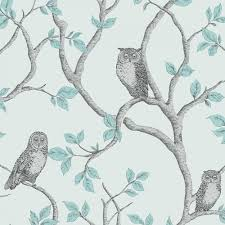 Yellow And Gray Bathroom Wall Art by Teal Yellow And Grey Owls Wallpaper Fine Decor Woodland Owls