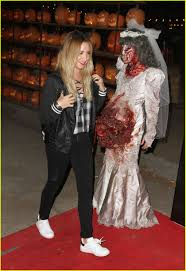 Spirit Halloween Mobile Al by Ashley Tisdale Gets In Halloween Spirit At Haunted Hayride