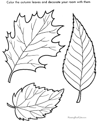 Tree Leaf To Print And Color