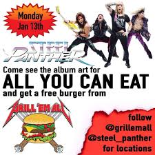 STEEL PANTHER ALL YOU CAN EAT FREE BURGERS FROM GRILL EM ALL ACROSS ... Roxys Grilled Cheese Food Trucks Brick And Mortar One More Bite Blog Travel Adventures Grill Em All Truck Eat Like A Champion Obey Your Master Grill Em All Burger Truck Of Death Pinterest Burgers Steam Workshop My Favourite Mods Ats Pick Up The 51 Coolest Time Flipbook Car Food Wars Metal Pose Flickr Topclass Jamaican Orlando Roaming Hunger Celebrates Five Years Heavy Metal Great Race Season 1 Winner Alhambra Ca Griemall Twitter