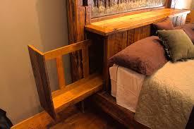 bedroom elegant hidden gun cabinet headboard life hacks