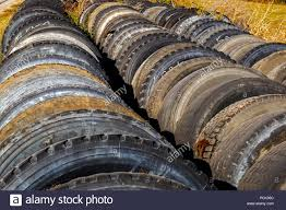 100 Used Truck Tires Truck Tyres Stock Photo 214319964 Alamy