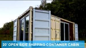 100 Cargo Container Cabins 20 OPEN SIDE SHIPPING CONTAINER CABIN 20ft Side Opening Shipping Container Door Operation Storage
