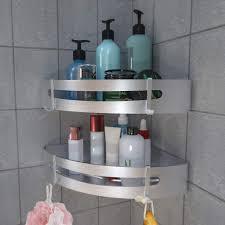 duschregal ohne bohren badregal eckregal aluminium duschkorb selbstklebender duschablagen regal duschablage für badezimmer dusche bad küche rostfrei