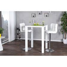 table de bar blanc homeezy