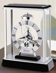 Bulova Table Clocks Wood by Bulova B2023 Vantage Tabletop Clock The Clock Depot