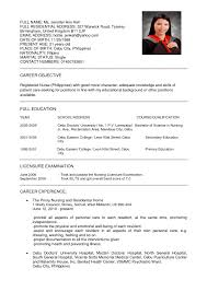 Example Rn Resume Gorgeous Registered Nurse New Graduate Sample Templates Of
