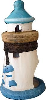 khevga maritime deko kerzenhalter windlicht leuchtturm blau