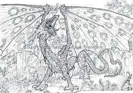 Dragon Coloring Pages For Adults Free Printable