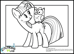 My Little Pony Coloring Pages Applejack Fluttershy Rainbow Dash Young Rarity East Color Full Size