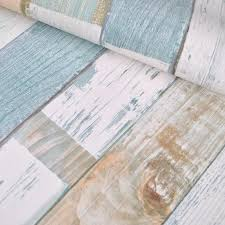 Textured Vintage Weather Wood Plank Wallpaper Panel Blooming Retro Rustic Wall Paper Home Decor For Living Room Bedroom