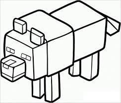 Pig Minecraft Coloring Page For Kids Download