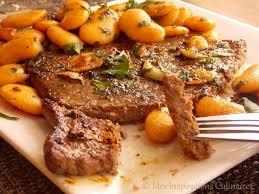 steak à l ail haricots blancs sautées le cuisine de samar