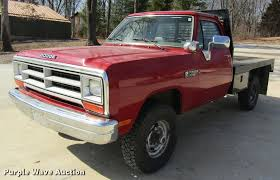 1990 Dodge Ram 350 Flatbed Pickup Truck | Item DB9755 | SOLD...