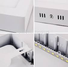 6pcs free shipping 18w square mounted panel white led kitchen