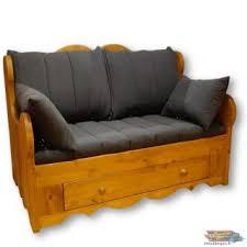 canap rustique canape rustique bois et tissu canape en bois canapac convertible et