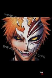 Halloween Half Masks by Bleach Ichigo 1 2 Half Hollow Mask Collection V2 0 Cosplaysky Com