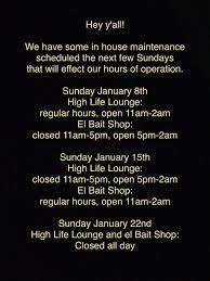 El Patio Des Moines Hours by High Life Lounge Highlifelounge Twitter