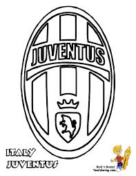 JUVENTUS Logo Soccer Colouring Pages