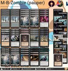 Best Pauper Edh Decks by Mono Black Zombies Pauper Apocalypse Mtg Amino