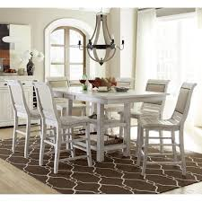 Progressive Furniture Willow Dining 7 Piece Rectangular Counter Height Table Set With Uph