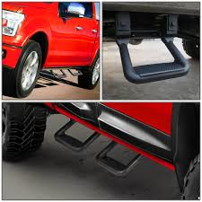 100 Side Step For Trucks Pair Of Aluminum Assist For Pickups Black