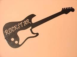 Wall Art Guitar Metal Bronze Pick Music Musical Decor Rock Star Large