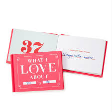 What I Love About You By Me Book Journal Couples Anniversary