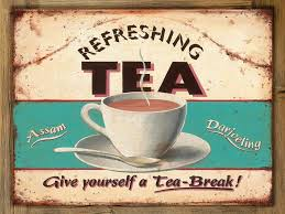 Refreshing Tea Metal Sign On Rustic Barn Wood Frame Retro Kitchen English Brew