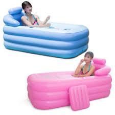 blowup spa pvc folding portable bathtub warm inflatable bath