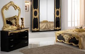 cristina klassische schlafzimmer kommode schwarz gold